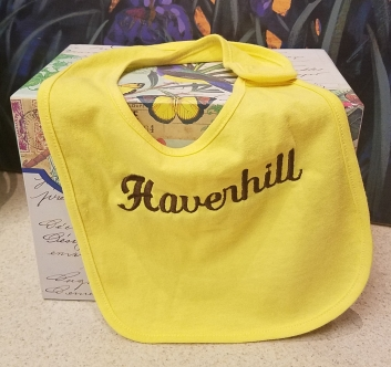 yellow bib - $8