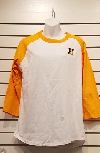 Gold & White Raglan - $15