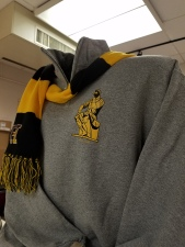 1/4 zip sweatshirt with scarf