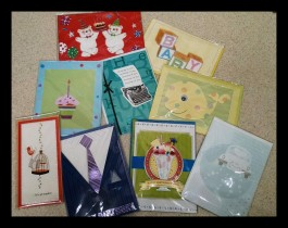 Greeting Cards $ .50 - $2