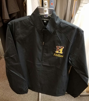 Black Windbreaker: 1/4 Zip
