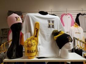 Pink Knit Caps, Foam Fingers, White T's, Pom-Pom Hats