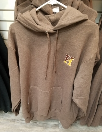 Brown Embroidered Hoodie