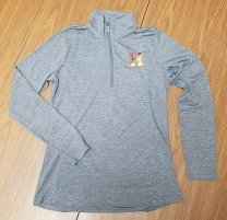 Light Weight 1/4 Zip Moisture Wicking Shirt: Mens & Ladies Cut